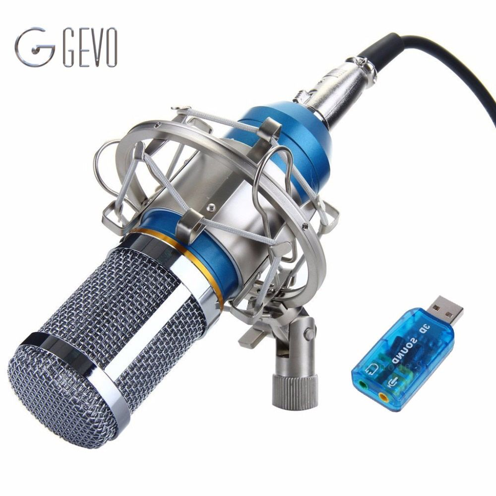 BM-800 Condenser Microphone Professional 3.5mm With Metal Shock Mount Microphone For Video Recording <font><b>Studio</b></font> Computer BM 800