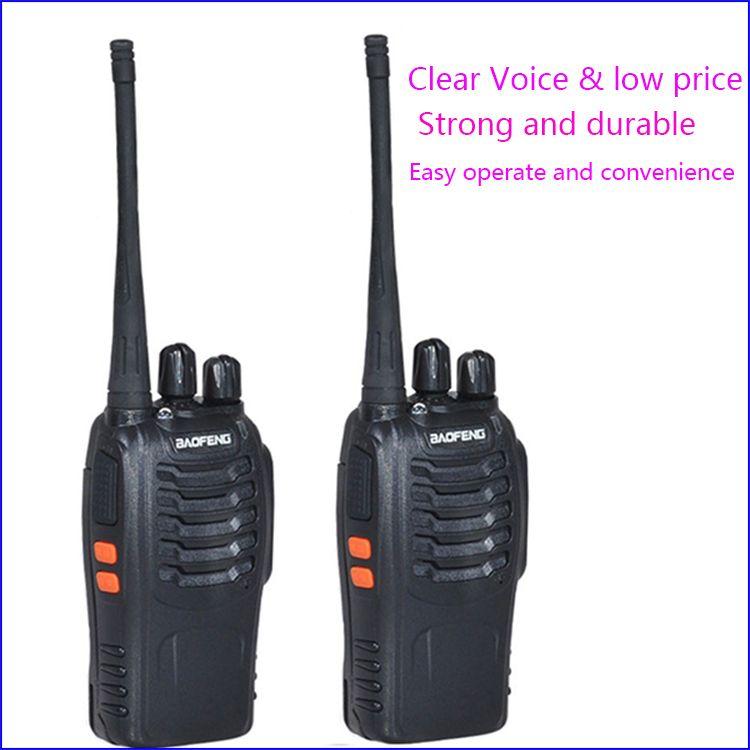 2pc Walkie Talkie Two Way Radio Interphone Wireless 888 888s baofeng bf-888s with UHF400-470MHz Walk Talk CB Radio Communicator