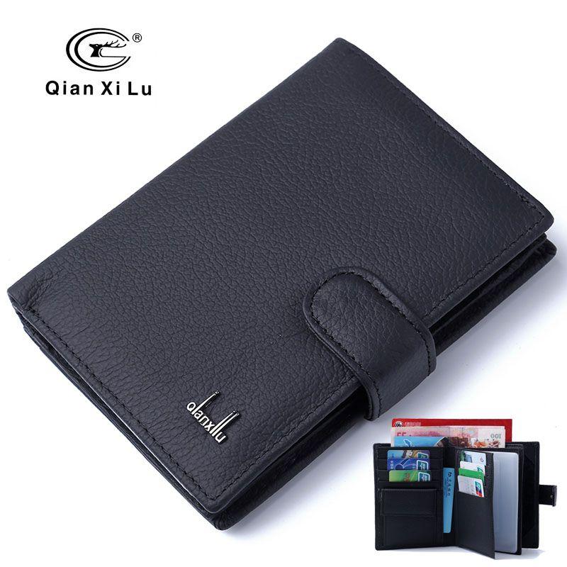 Housse de passeport en cuir véritable pour hommes porte-passeport de voyage étui à cartes homme portefeuilles de haute qualité