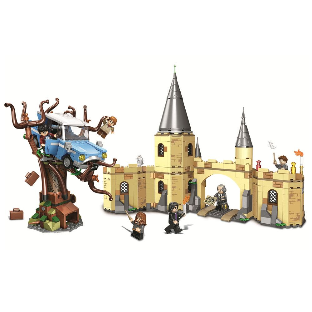 Hogwarts Harry Whomping Willow Building Blocks Kit Bricks Sets Classic Movie Potter Model Kids Toys Gift Marvel Compatible Legoe