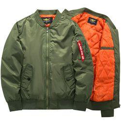 2017 de alta calidad Ma1 grueso y delgado ejército verde militar motocicleta Ma-1 piloto aviador aire hombres bombardero chaqueta