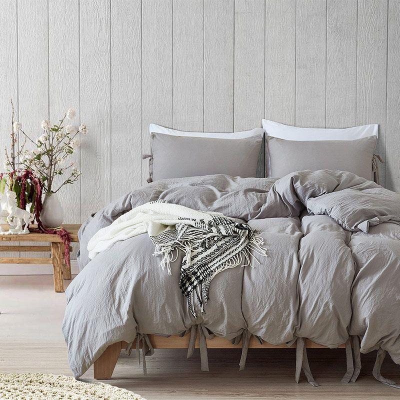 Arc-noeud Unique Ensemble de Literie Qulit Couverture Taies Solide Textile de Maison cama Lit Ensemble Reine Couette Ensembles King Size ensembles de literie