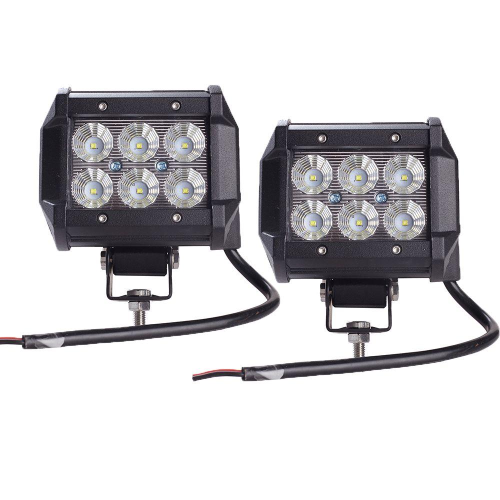 2pcs Car Led Light Bar 18W Work Light Lamp Cree Chip LED 4