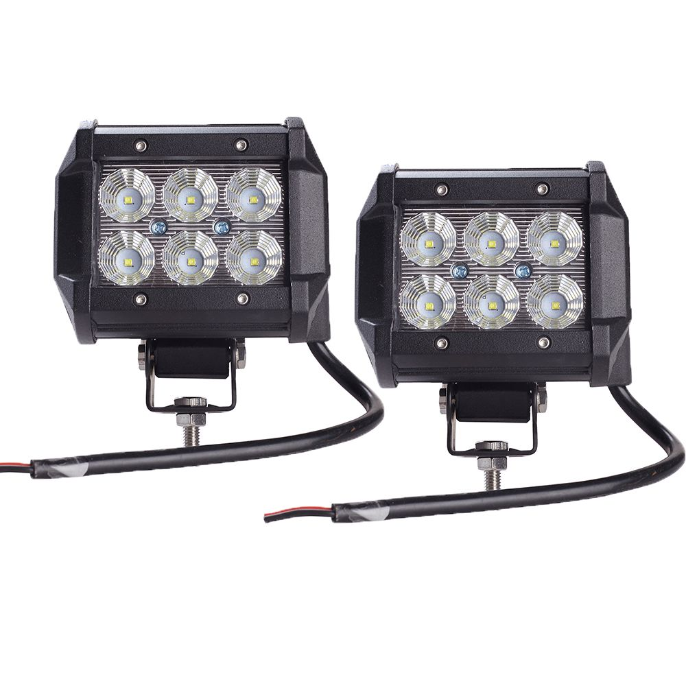 2pcs light bar 18W Work Light Lamp Cree chip LED 4