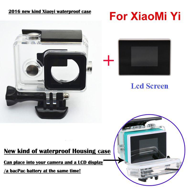 Xiaomi yi kamera externe protector wassergehäuse + 1,38 zoll farbe tft lcd-monitor für xiao yi zubehör set