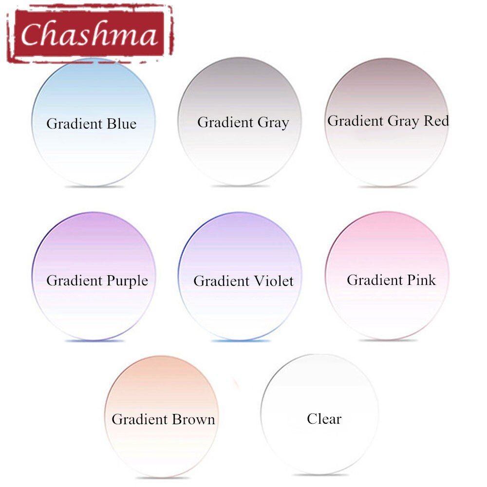 Chashma Brand Myopia and Reading 1.61 Index M 8 Clear Lens Eyes Optical Glasses Custom Make Prescription Colored Lenses
