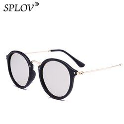 Nouvelle Arrivée lunettes de Soleil Rondes revêtement Rétro Hommes femmes Marque Designer lunettes de Soleil Vintage miroir lunettes
