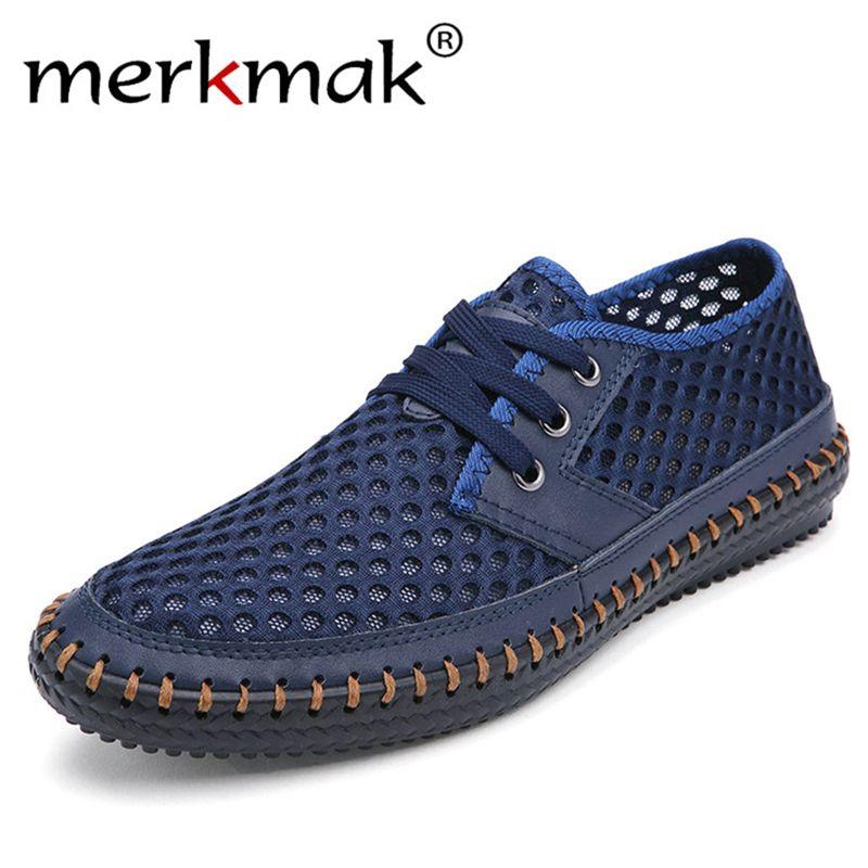 Drop <font><b>Ship</b></font> Breathable Men's Casual Shoes Summer Shoes 2018 Fashion Breathable Mesh Shoes Zapatos Hombre Plus Size 38-48 Footwear
