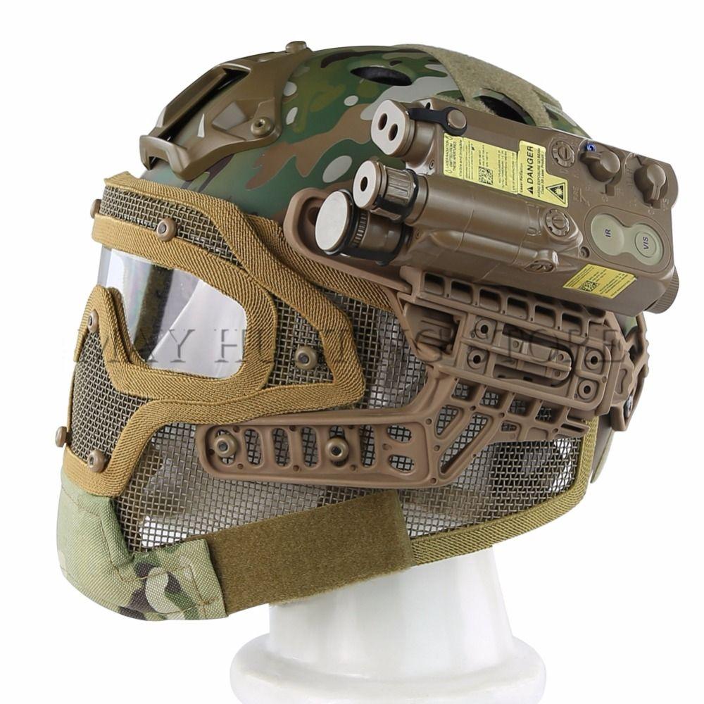 Neue Airsoft Paintball Tactical Helm Schutz Schnelle Helm ABS Taktische Maske mit Schutzbrillen für Airsoft Paintball WarGame