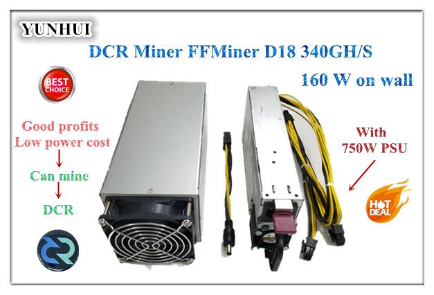Fast ship FFMiner D18 340GH/S 160W mini and low noise Cost-effectiveness is higher than Innosilicon D9 for DCR 56DB ( With PSU )
