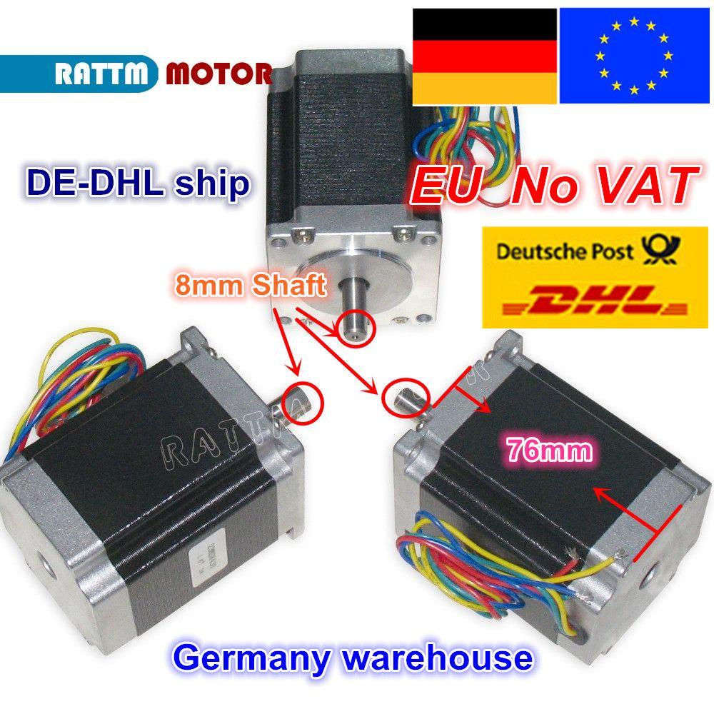 DE ship/free VAT 3PCS NEMA23 76mm/270 Oz-in/ 3A 1.8Nm CNC stepper motor stepping motor CNC machnine 3D printer