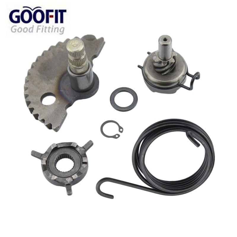 GOOFIT Kick <font><b>Start</b></font> Gear Kit Kits with Spring washer for gy6 50cc 60cc 80cc 139qmb Scooters Moped Roketa Taotao Jonway K070-047-1