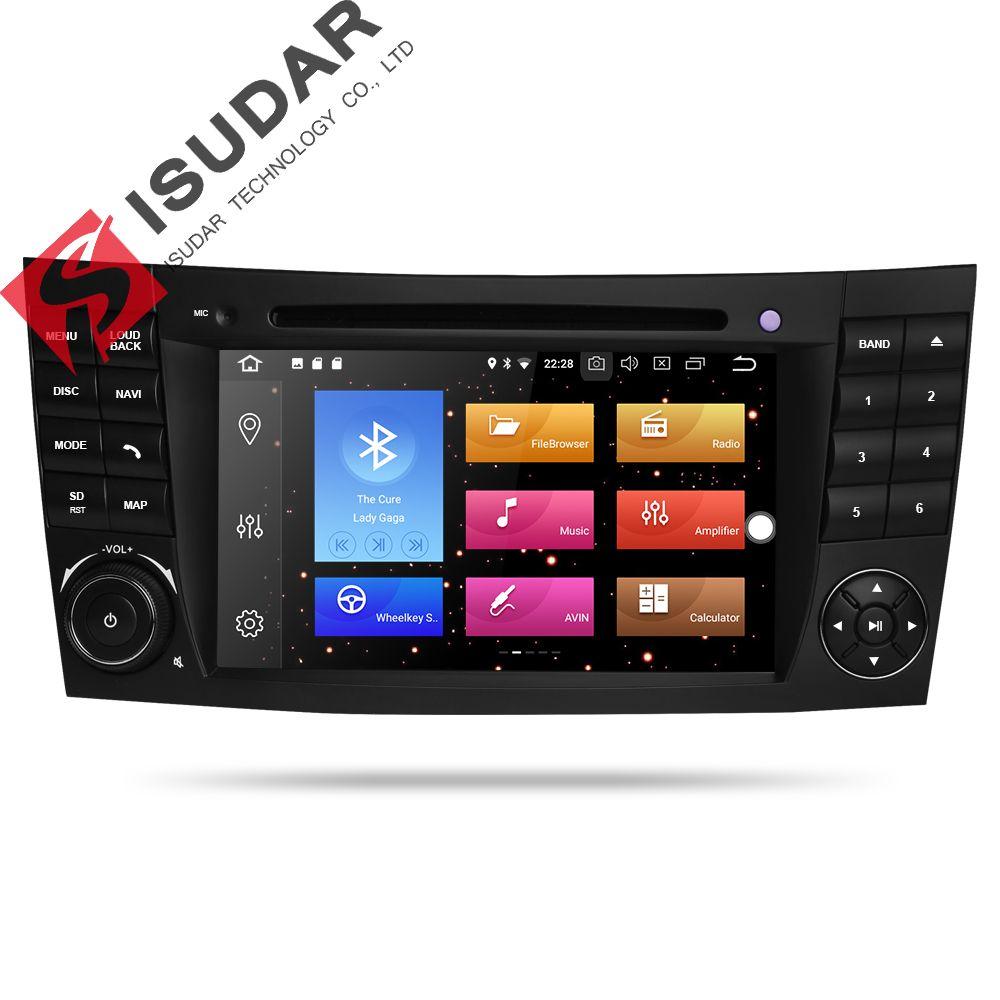Isudar Car Multimedia Player Android 8.0 GPS 2 Din 7 Inch For E-Class/E200/E220/E300/W211/E320/Mercedes/Benz/CL Wifi Radio DVD