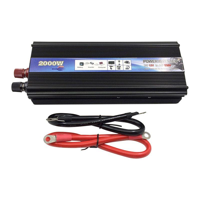 Car Inverter AC 220 110V 2000W Car Power Inverter Converter 12V 24 V to 220v Universal Socket Power Inverter Transformer