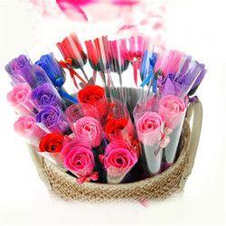 Roses Savon Fleurs Creative Romantique avec des Faveurs De Mariage Rose savons fleur pour Cadeau de Valentine Cadeaux du Jour de Mère