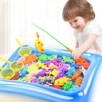 Рыба игрушки вода бассейн Магнитная Рыба полюс Род Чистая Детская модель играть в игры Indoor Открытый обучения для маленьких мальчиков девоч...