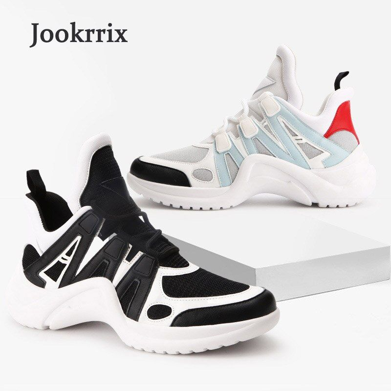 Jookrrix 2018 Spring New Fashion Brand Lady Casual Platform Shoes Women Shoes Girl Leisure Sneaker Breathable Good Quality Soft