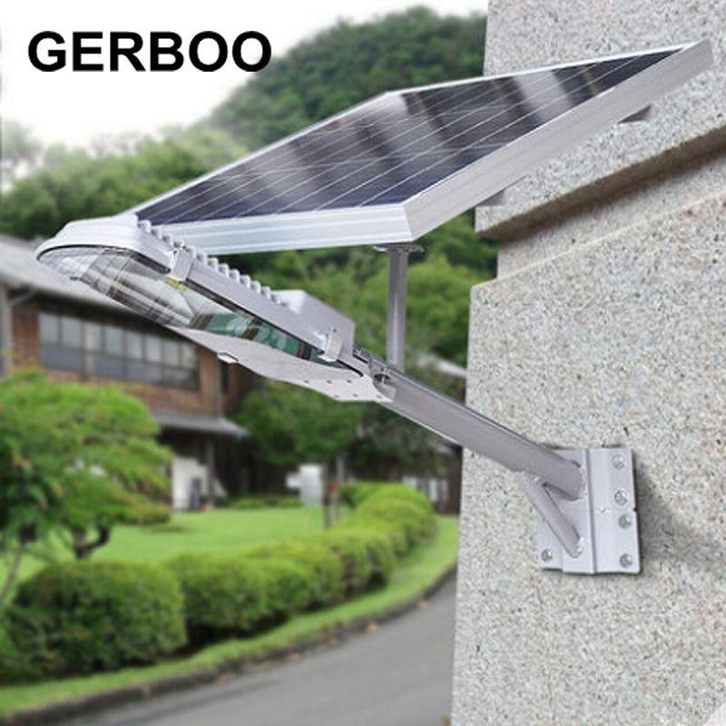 Lumières solaires en plein air panneau solaire alimenté LED lampadaires lampe de route Lampada lampes de secours solaires de jardin