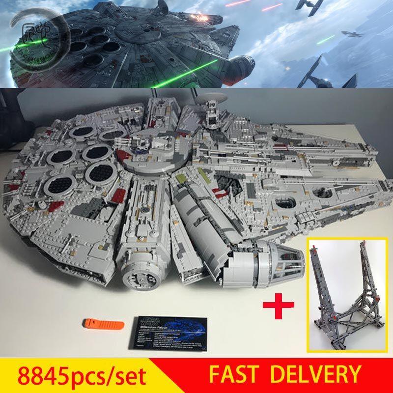 Neue Star Plan Ultimative Bausteine Kraft Weckt Set Falcon Modell fit 75192 Spielzeug Kid Birthda Geschenk