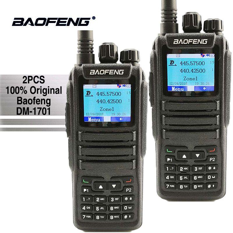 2pcs Baofeng DM-1701 Digital Mobile Radio Dual Time Slot Tier1 Tier2 DMR Ham Radio Hf Transceiver Hunting Walkie Talkie CB Radio