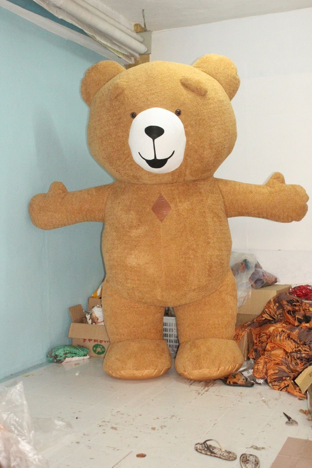 Newest Teddy Bear Mascot Inflatable Costume For Advertising 2.6M Tall Customize For Adult Suitable For 1.6m To 1.9m Adult