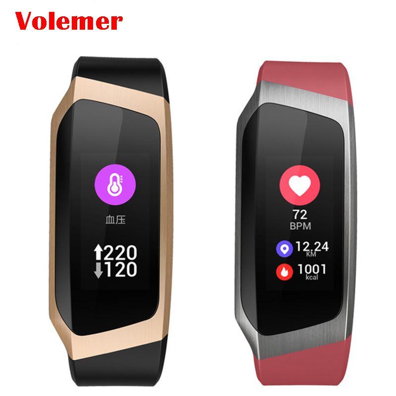 Volemer Smart bracelet E18 Color screen wristband heartrate monitor Blood pressure measurement Fitness tracker band PK mi band 3