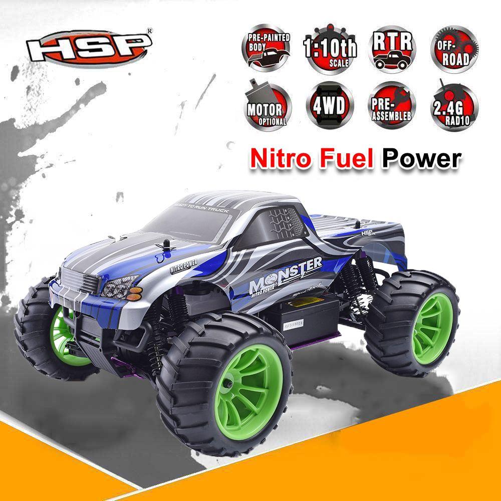 HSP 94108 RC Гонки грузовик Nitro газа Мощность 4WD Off Road Monster Truck 1/10 Весы высокое Скорость хобби Дистанционное управление автомобиля подарок для маль...