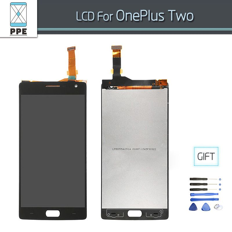 LCD screen For <font><b>Oneplus</b></font> 2 plus 2 Phone LCD Display with Touch screen Digitizer pantalla Amssembly Original Replacement gift Tools