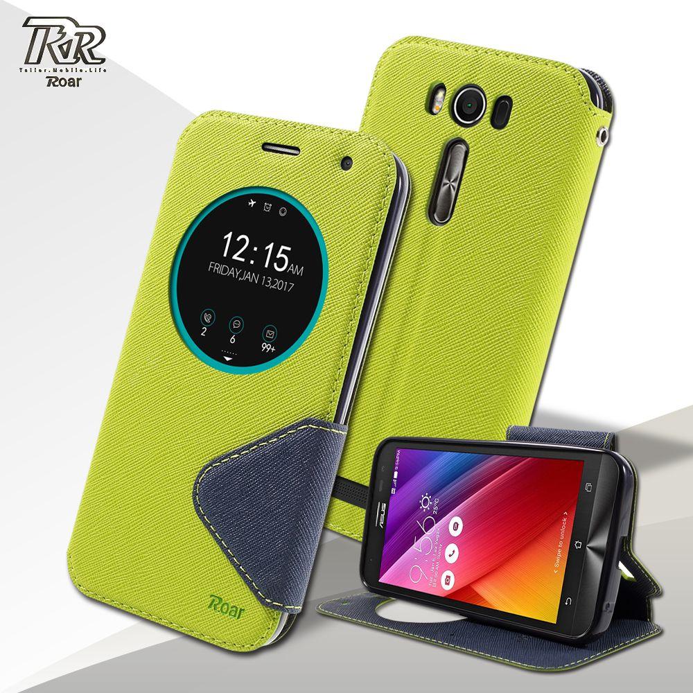 ROAR KOREA coque fundas for Asus Zenfone 2 Laser ZE500KG ZE500KL Case View Window Leather Flip Cover 5.0 inch
