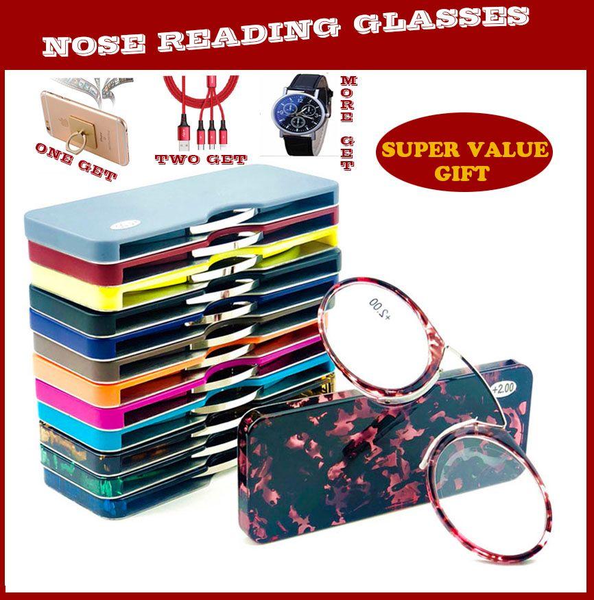 Final Crazy Promotion discount MINI clip nez pont lunettes de lecture 1.0 à 3.5 Portable portefeuille presbyte lunettes avec étui