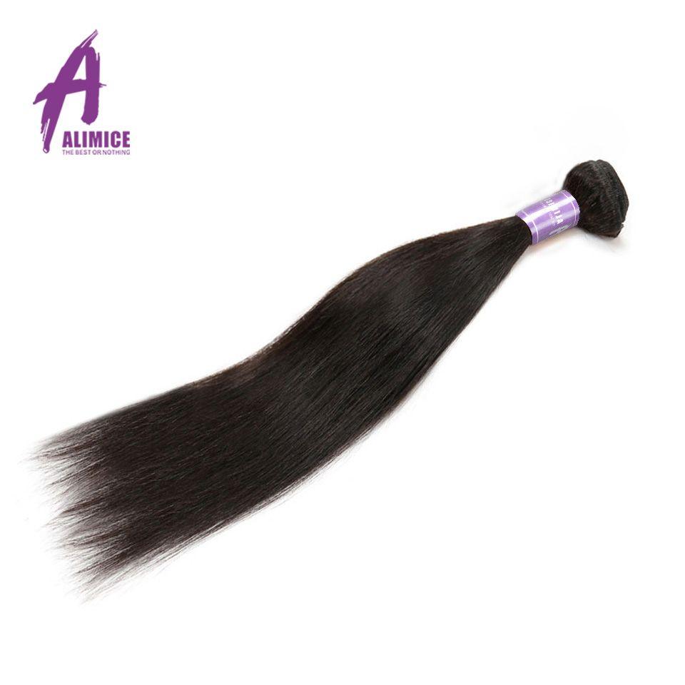 Малайзии Прямые Человеческие волосы Weave Связки Alimice non-реми Инструменты для завивки волос 100% наращивание волос 100 г двухместный уток природн...