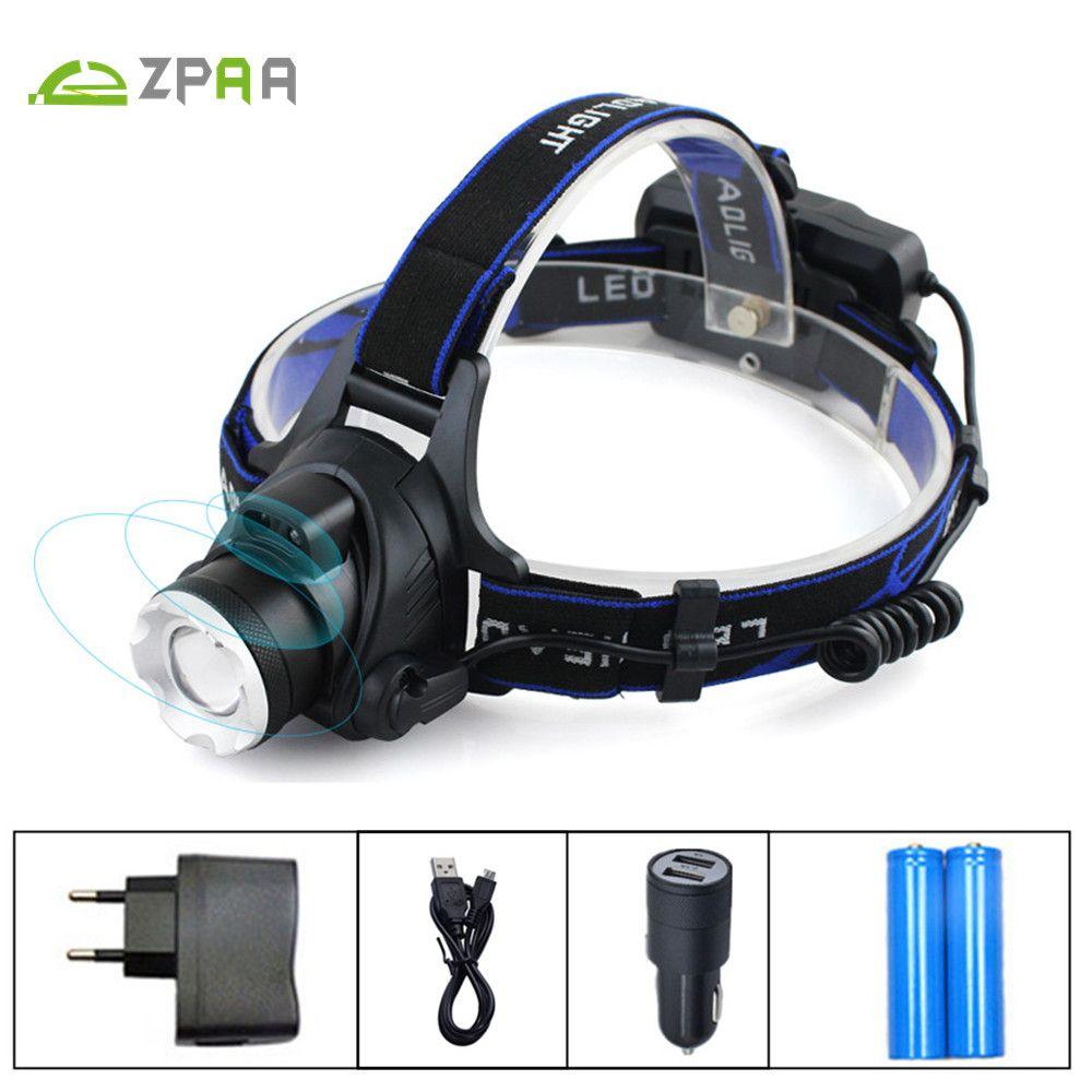 IR Capteur LED Lanterne sur la Tête Induction Micro USB Rechargeable projecteur XM L2 XML T6 Head Light 3800/5000 LM Tête Torche lampe