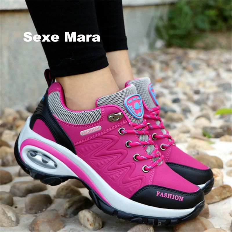 2017 High quality Sneakers women shoes Running shoes woman leather Sport Shoes Air damping Outdoor arena Athletic zapatos mujer