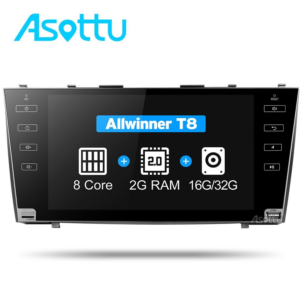 Asottu CLKMR9060 IPS Android 7.1 2G car gps navigation for Toyota camry 2008 2009 2010 2011 car dvd player car stereo radio gps
