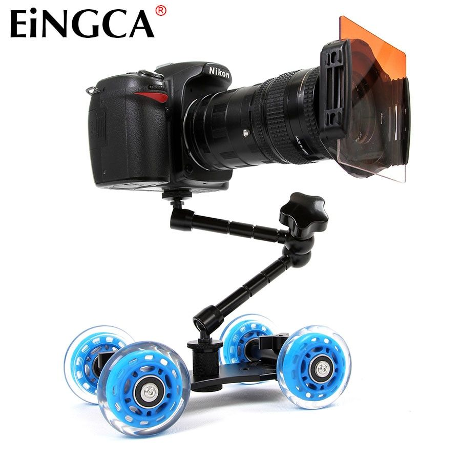 Mini Desktop Camera Rail Car Table Dolly Video Slider Track for Canon Nikon D5300 D7100 D600 60D 5DII 5DIII 7D DSLR Accessories