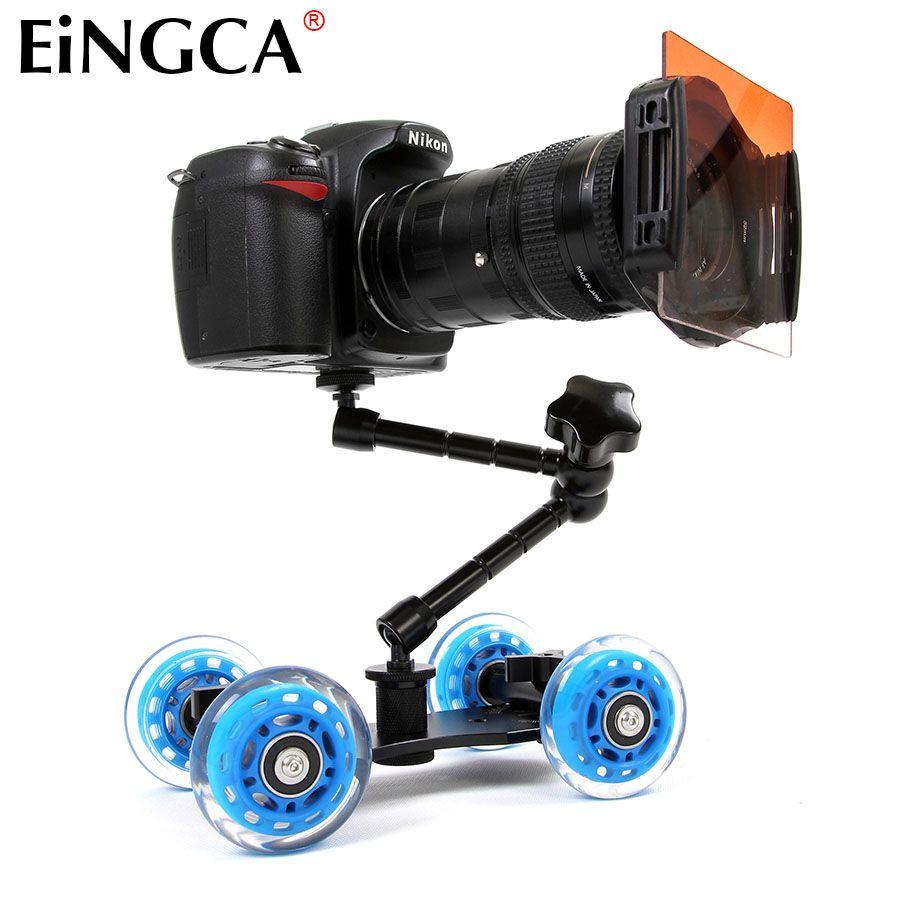 Mini appareil photo bureau Rail voiture Table Dolly vidéo curseur piste pour Canon Nikon D5300 D7100 D600 60D 5DII 5 DIII 7D DSLR accessoires