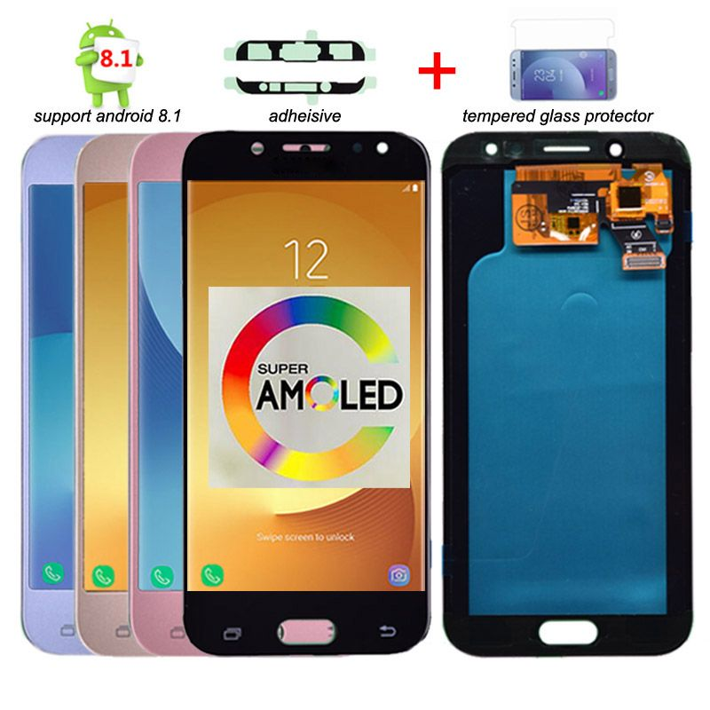 Super Amoled LCD For Samsung Galaxy J5 2017 J530 J530F LCD Display Touch Screen Digitizer Assembly lcd for J5 Pro 2017 J5 Duos