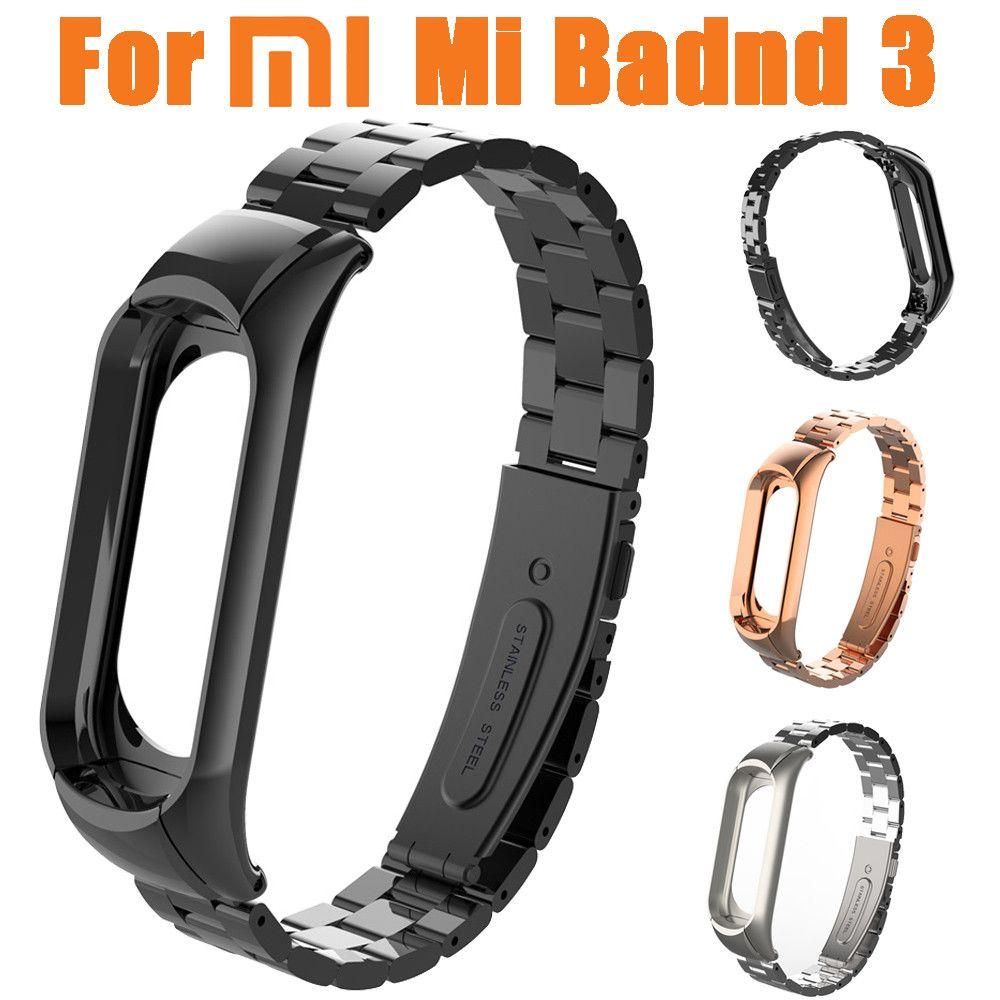 Nouveau 1 pc Mode Milanaise En Acier Inoxydable De Luxe Bracelet Remplacement Bracelet En Métal Pour Xiaomi Mi Band 3 Accessoires 10Jul 4