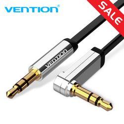 Vention 3,5mm Jack Cable de Audio 3,5 macho a macho Cable Audio 90 grados de ángulo recto Cable auxiliar para el coche auriculares MP3/4 Aux Cord