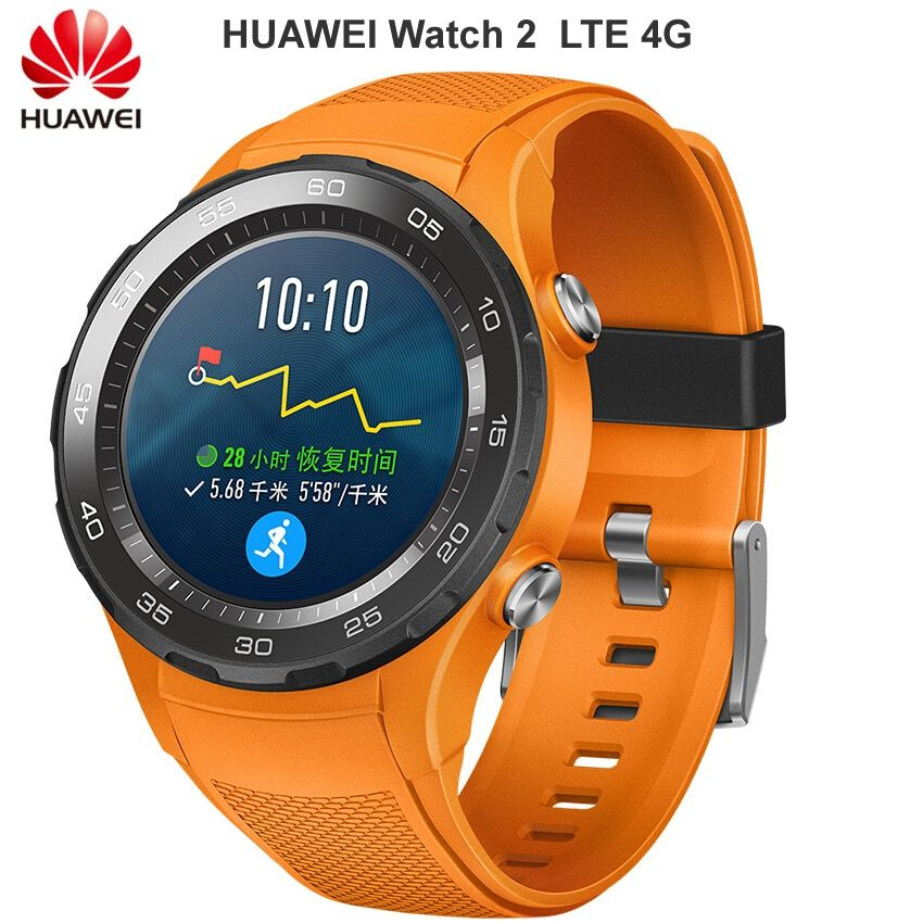 Original Huawei Watch 2 Smart watch Support LTE 4G Phone Call Heart Rate Tracker For Android iOS IP68 waterproof NFC GPS