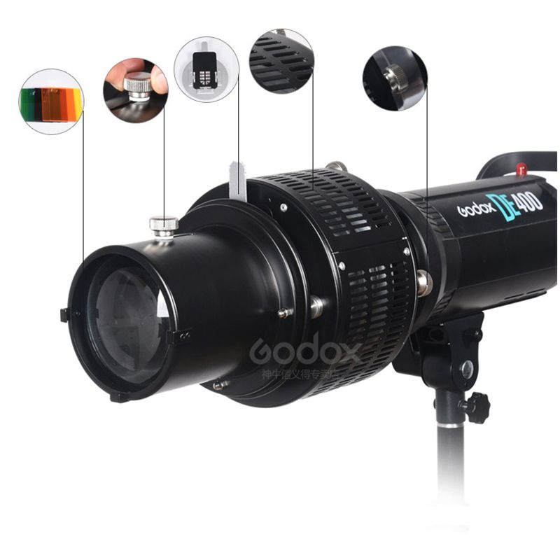 Bowens Mount Focalize Conical Snoots Photo Optical Condenser Art Special Effects Shaped Beam Light Cylinder For Godox SK400II