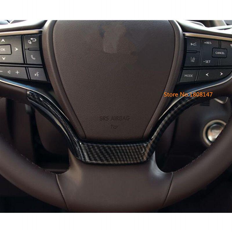 Für lexus es es200 es250 es300h es350 2018 2019 auto abdeckung lenkrad innere kit schalter taste trim rahmen panel lampe 1 stücke