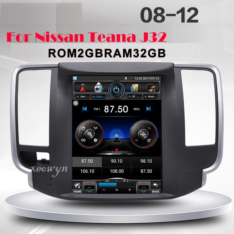 Android 6.0 RAM2GB Tesla stil Quad core Android 1024*600 9,7 zoll Auto GPS-Navigation für Nissan teana J32 2008- 2012