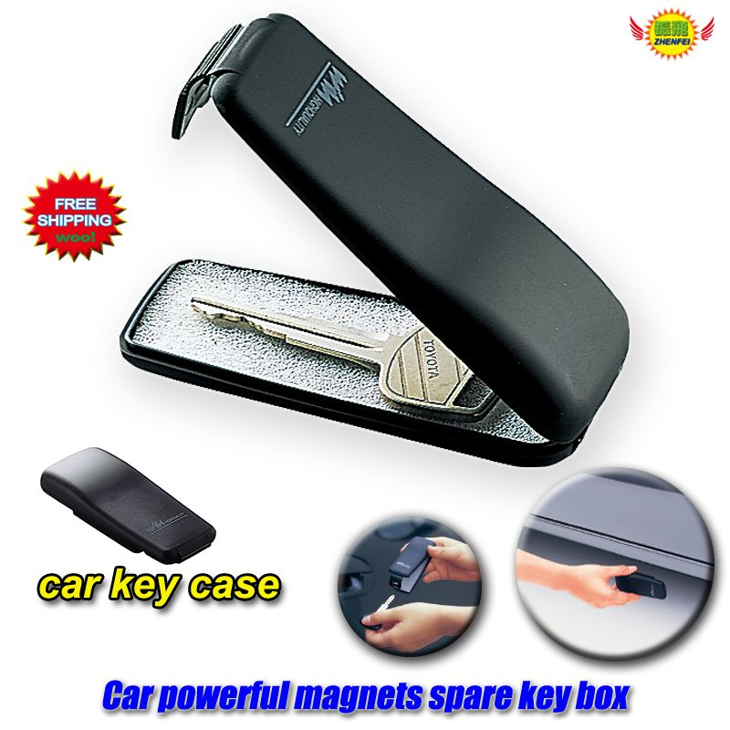 Car Accessories Powerful magnet clamshell automobile spare emergency key boxes net Key Protection Cover