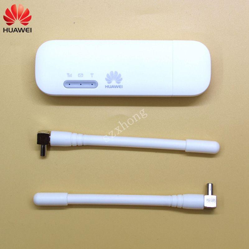 Huawei USB WIFI Modem E8372 E8372h-608 E8372h-153 4G LTE USB wifi Dongle 4G USB Modem plus a pair of antenna 4G Carfi PK E8377