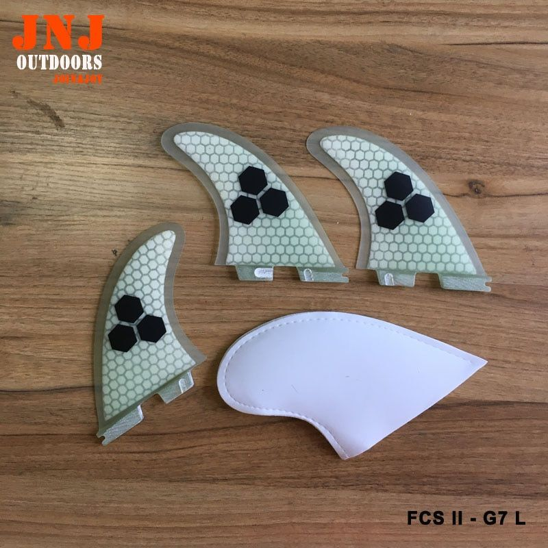 Free shipping quality FCS II G7 L surfboard fins fcs 2 Large size thruster fin made by fiberglass and honeycomb