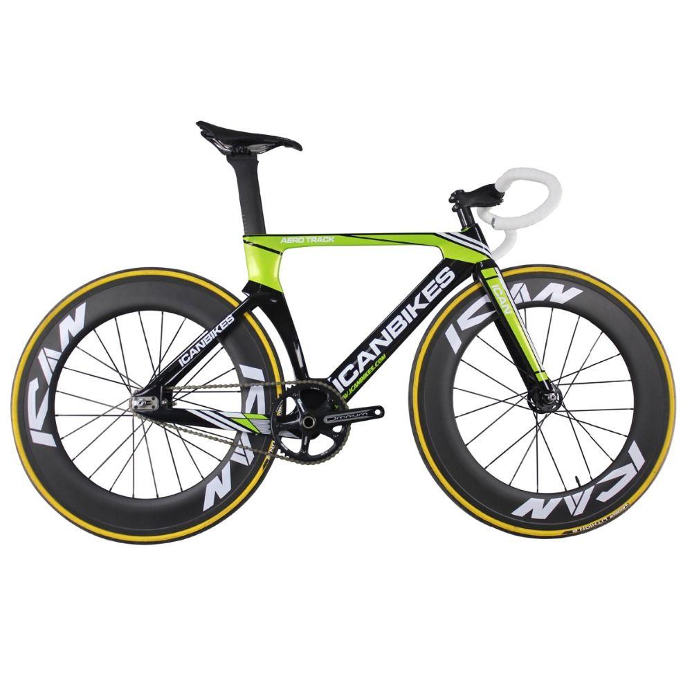 ICAN Super licht 6,98 kg carbon bahnrad aero abgeschlossen fahrrad spur full carbon bikes fixed gear bike AC135
