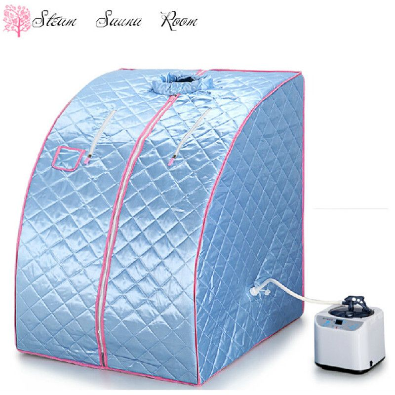 2017 Portable steaming sauna room steam sauna box Home sauna for Losing weight (Chair included)