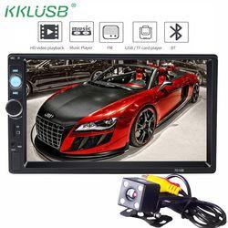 Autoradio 2 din General modelos 7 ''pulgadas LCD pantalla táctil Bluetooth coche de radio audio del coche aux apoyo cámara de visión trasera