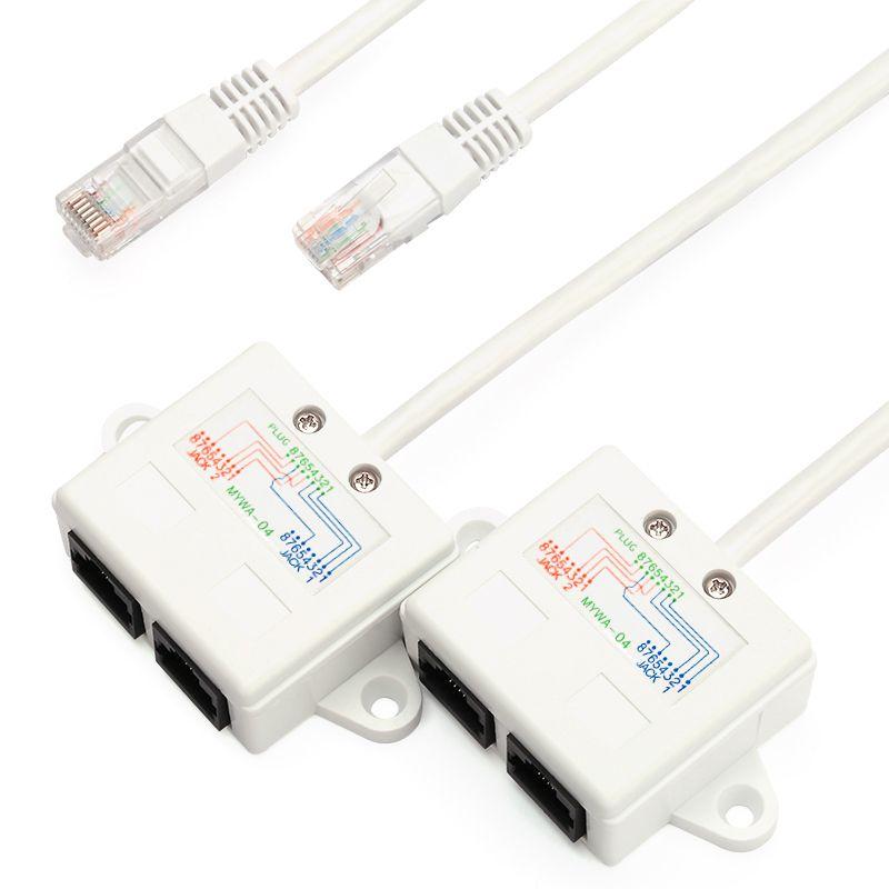 BELNET RJ45 connecteur réseau câble splitter Ethernet splitter internet câble splitter deux PC partager un câble simultanément